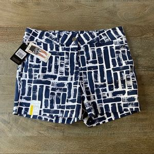 The Limited Navy Print Tailored Short Sz.8